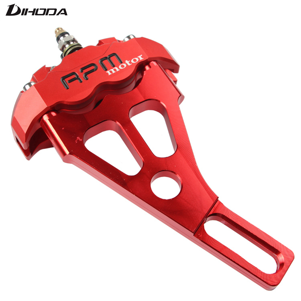 Motorcycle Brake Calipers with Hole pitch 82mm Adapter Bracket For 220mm Disc Brake Pump Standard Flat Fork modification
