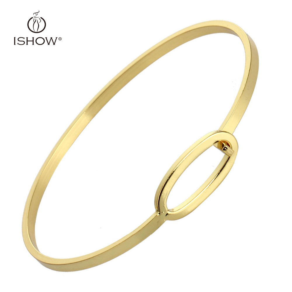 Gold Color New Bangles Womens Mens Copper Bracelet Cuff Minimalist Silvery  Golden Jewelry Pulseras Mujer Armbanden