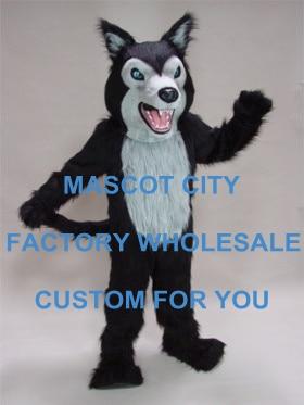 Animas sauvages thème carnaval Costume Mascotte grand méchant loup Mascotte Costume adulte Mascotte tenue Costume fantaisie robe SW884
