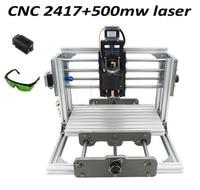 Mini Diy Cnc Router 2417 500mw Laser 2 In 1 CNC Engraving Machine Pcb Milling Machine