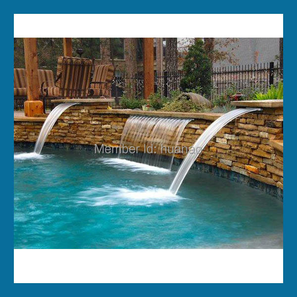 Swimming Pool Spa Waterfall Ornaments, Garden Decorative Indoor Water Wall  Fountains