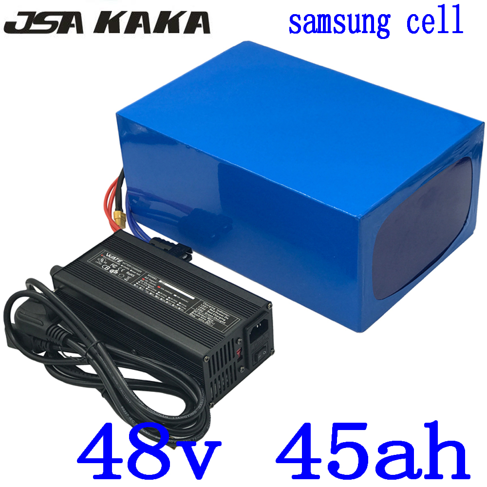 48V 1000W 2000W 3000W Lithium battery 48V 45AH Electric Bike battery 48V 45AH electric scooter battery use samsung cell+charger48V 1000W 2000W 3000W Lithium battery 48V 45AH Electric Bike battery 48V 45AH electric scooter battery use samsung cell+charger