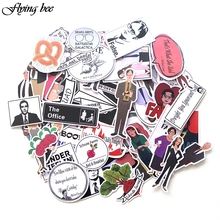 Flyingbee 46 Pcs The Office Graffiti Anime Funny Waterproof PVC Stickers for Suitcase Skateboard Laptop Fridge Stickers X0026 anime avatar monster pet thumbnail funny spoof taste fridge magnet colourful squishy waterproof stickers kawaii toy recyclable