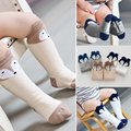 Newborn Kids Girl Boy Animal Pattern Anti-slip Knee High Socks Baby Socks