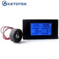 AC 80 260V 100A 4 In 1 Digital LCD Volt Amp Watt Energy Meter AC Voltmeter