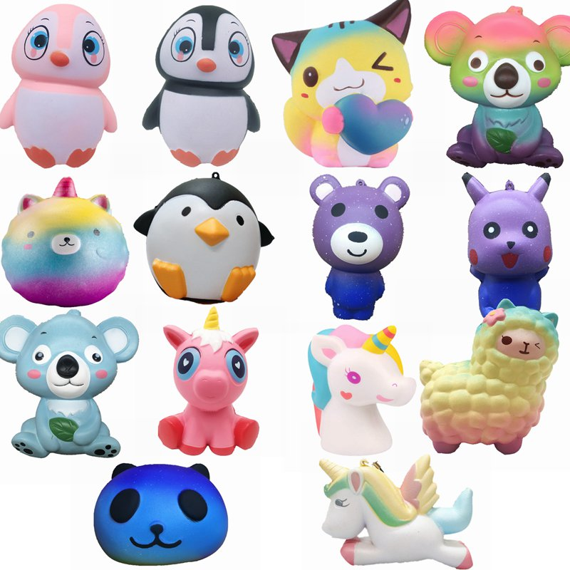Toys & Hobbies Squishy Fun Cats Squeeze Squishy Slow Rising Antistress Toy Kawaii Cute Straps 9cm Funny Gadgets Kid Toy Stress Reliever Decor High Resilience