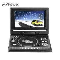 7.0 HD Portable DVD Player Swivel Screen USB FM Radio AV In Car Charger
