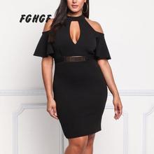 Fghgf женское платье для лета трикотажные короткие с расклешенными рукавами Винтаж плюс Размеры платье с открытыми плечами пикантные Платья для вечеринок Vestidos