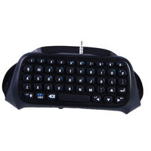 Siyah Bluetooth Mini Kablosuz Chatpad Dropshiping Mesaj Klavye Sony Playstation 4 PS4 Denetleyicisi için