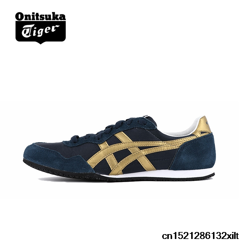 Original ONITSUKA TIGER Shoes SERRANO Men s Women Woven and anti fu Light  blue Color Unisex Sneakers Classic Badminton shoes-in Badminton Shoes from  Sports ... 1c8696731