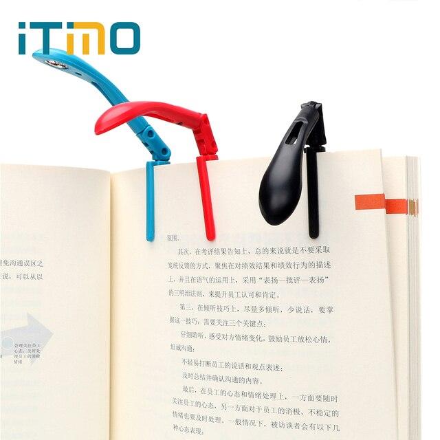 ITimo книга свет лампа для чтения книг Clip-on книга огни складной светодиодный ночник для чтения Kindle Регулируемая Гибкая с батареей