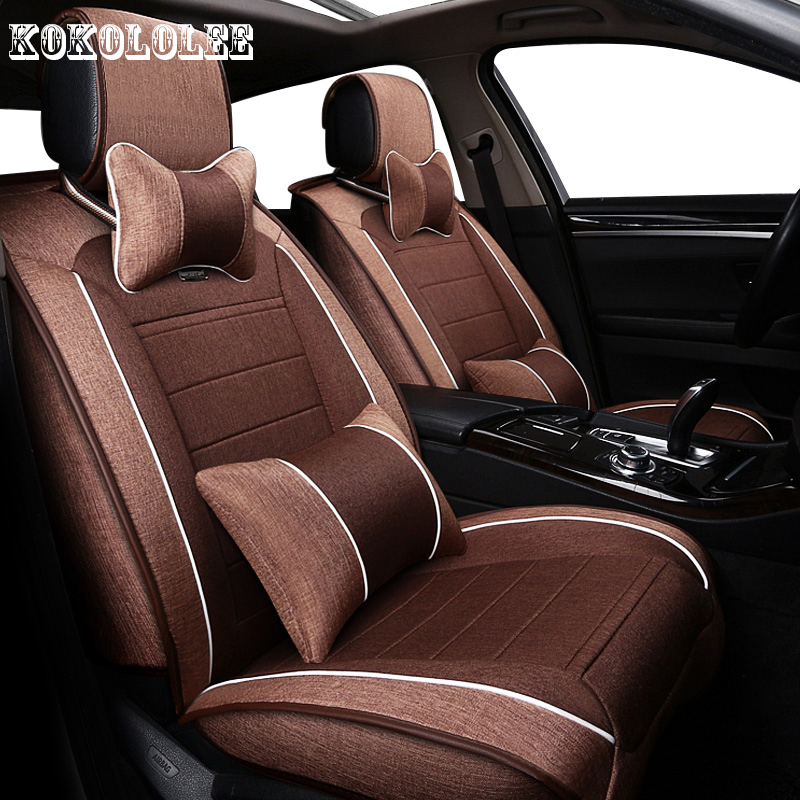 KOKOLOLEE Universal auto linen Car seat cover For Mazda 2 3 5 6 CX-5 CX-5 CX-7 Axela ATENZA automobiles car accessories styling custom made car floor mats for mazda 3 axela 6 atenza 2 cx 5 3d car styling high quality all weather full cover carpet rug liner