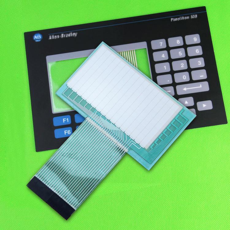 ФОТО New AB Allen-Bradley Panelview 550 2711-B5A10 2711-B5A10L1 Membrane Keypad + Touch Screen Glass