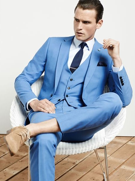 Aliexpress.com : Buy 2017 Latest Coat Pant Designs Light Blue Men ...