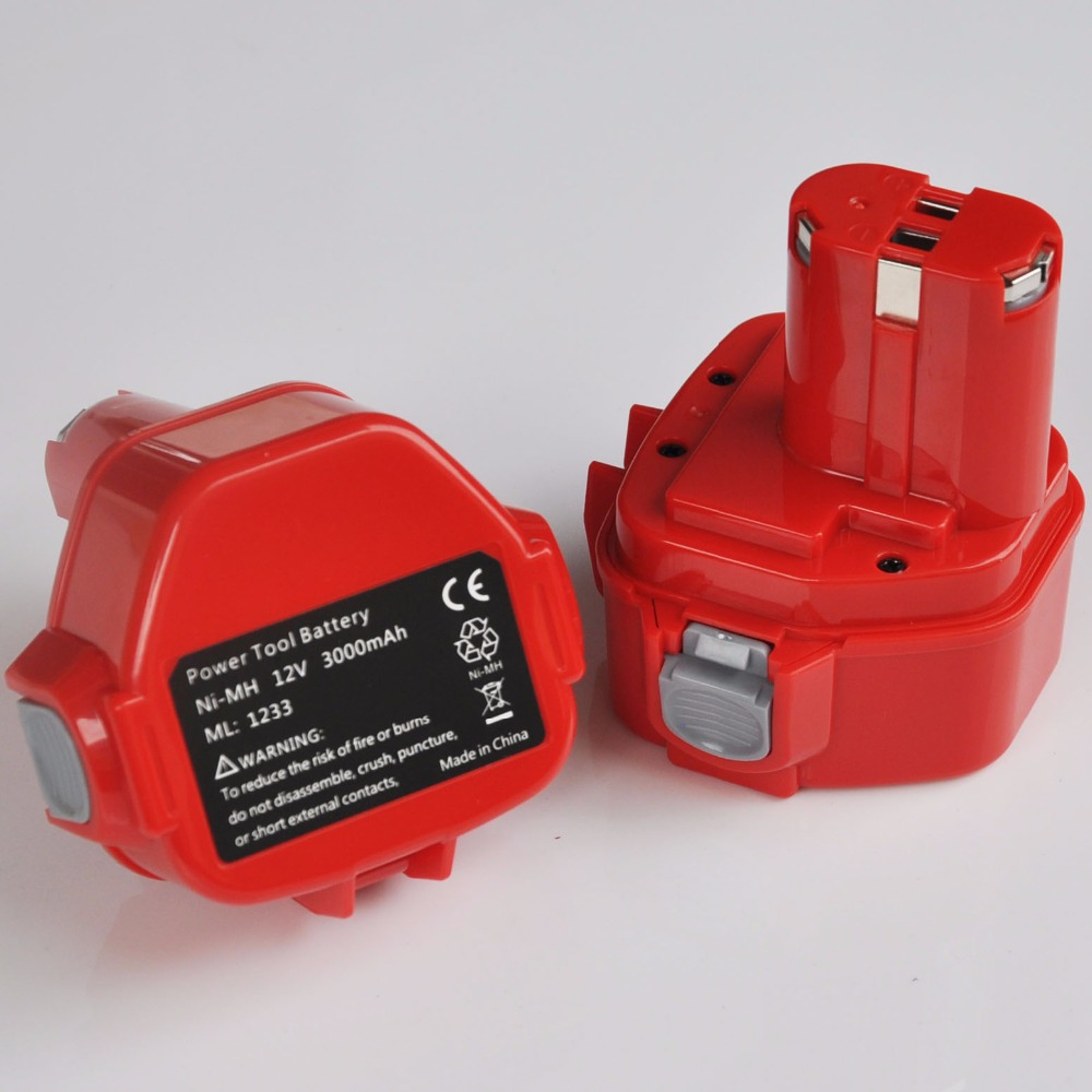 US 1-2PCS 3.0Ah <font><b>12V</b></font> Ni-MH rechargeable <font><b>battery</b></font> cell for Makita cordless Electric drill and screwdriver 1050D 4331D 5093D 4013D image