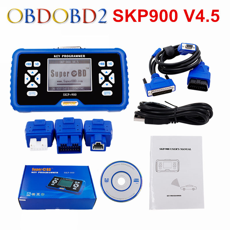 100% Original Manufacturer SuperOBD SKP900 SKP 900 OBD Auto Key Programmer Life-Time Free Update Online Support Almost All Cars