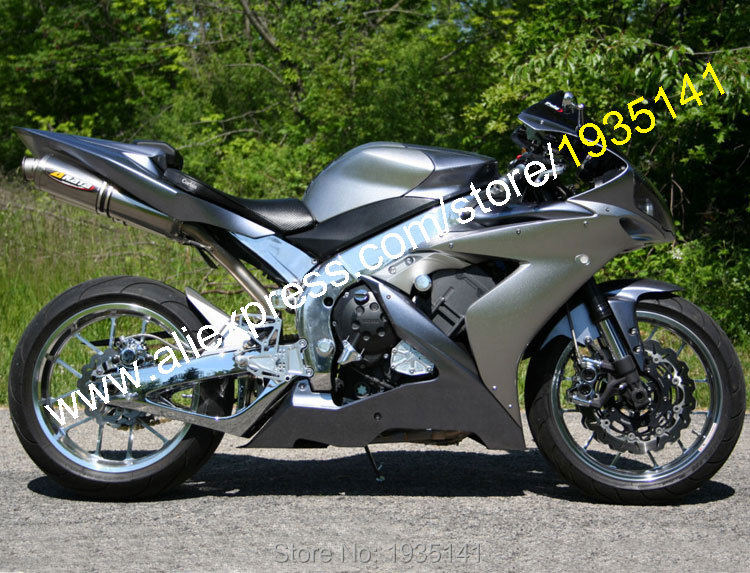 Hot Sales,For Yamaha YZF-R1 YZF R1 2004 2005 2006 YZF1000 04 05 06 YZFR1 Silver Bodyworks Motorbike Fairing (Injection molding)