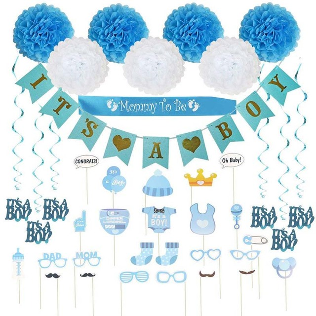 It S A Boy Blue Theme Welocom Kit For Babies Welcome Baby