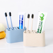BF040  Bathroom Porous tabletop toothbrush seat, washing and gargle storage rack 12*6*7cm