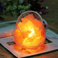 Lámpara de mesa de Cristal de Sal Natural del himalaya Roca Mineral de vidrio Craquelado bola huevo pantalla de Purificación de Aire Terapia Mineral de Roca