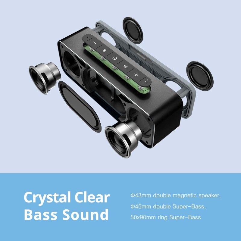 MIFA A20 Altavoz Bluetooth Metal portátil Super Bass altavoz inalámbrico Bluetooth4.2 3D sonido Digital altavoz Handfree MIC TWS - 3