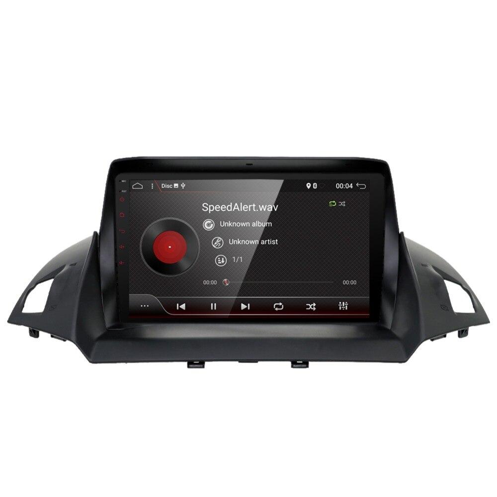 Android 7.1 unité autoradio stéréo Audio GPS navigateur dvd lecteur multimédia Intelligent pour Ford Kuga 2013 2014 2015 2016 2017 - 3