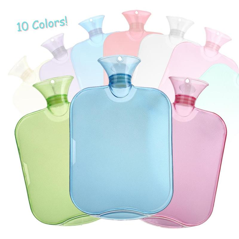 1Pc Transparent Winter Warmer PVC Hot Water Bottle Hand Thick High-Density Home Heating Props L40