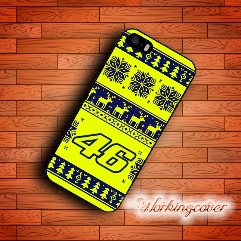 Capa Christmas Gift Valentino Rossi VR46 Case for iPhone 7 6S 6 5S SE 5 5C 4S 4 Plus Case Cover for iPod Touch 6 5 Case.