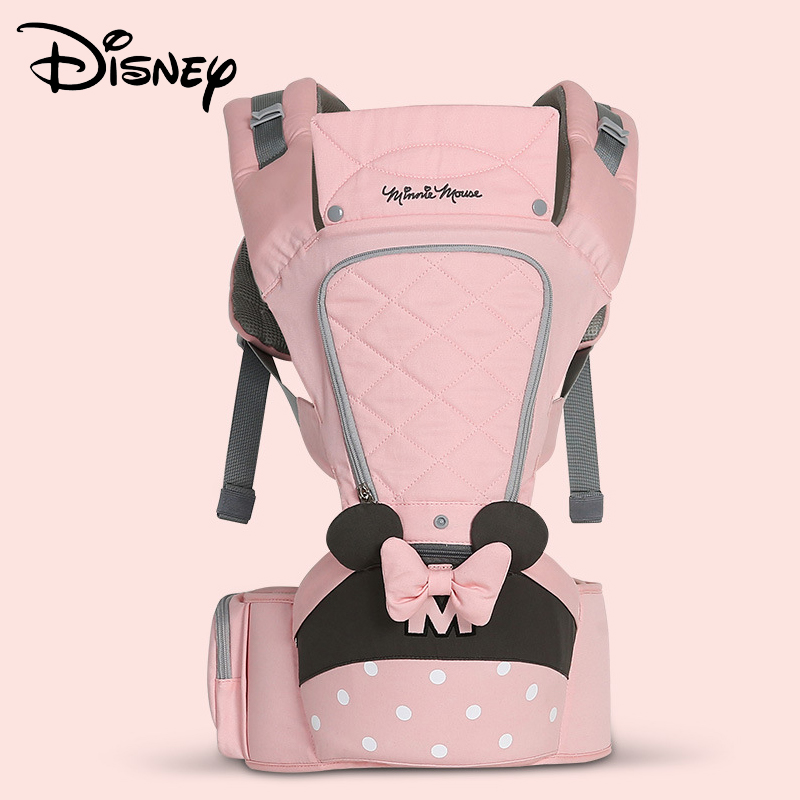 Disney 0-36 Months Bow Breathable Front Facing Baby Carrier Hipseat 20kg Infant Comfortable Sling Backpack Pouch Wrap  CarriersDisney 0-36 Months Bow Breathable Front Facing Baby Carrier Hipseat 20kg Infant Comfortable Sling Backpack Pouch Wrap  Carriers