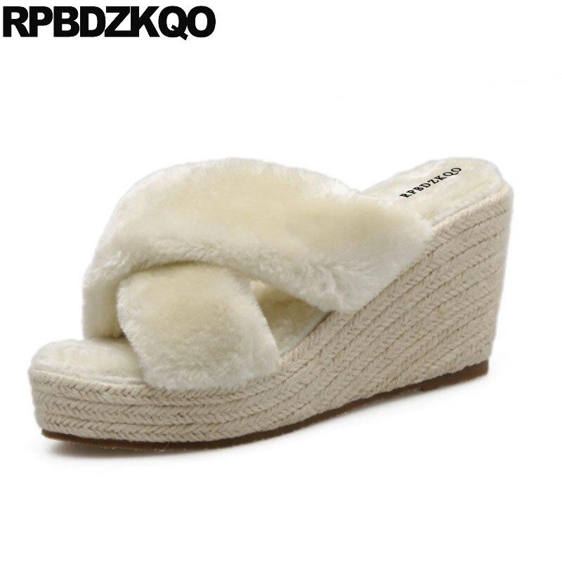 High Heels Diamond Gold Shoes Sandals Leisure Fashion Bohemia Style Thong  Beaded Pumps Wedge Rhinestone Women Crystal Plus Size 47506e6f03a5