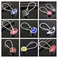 26 Brands Metal Steel Wire Keychain For Auto With Logo Keyring Vehicle Key Chain Ring Key Rope KEYFOB CNYOWO