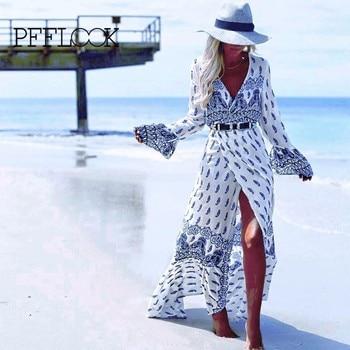 Retro Printed Tunic Beach Sarong