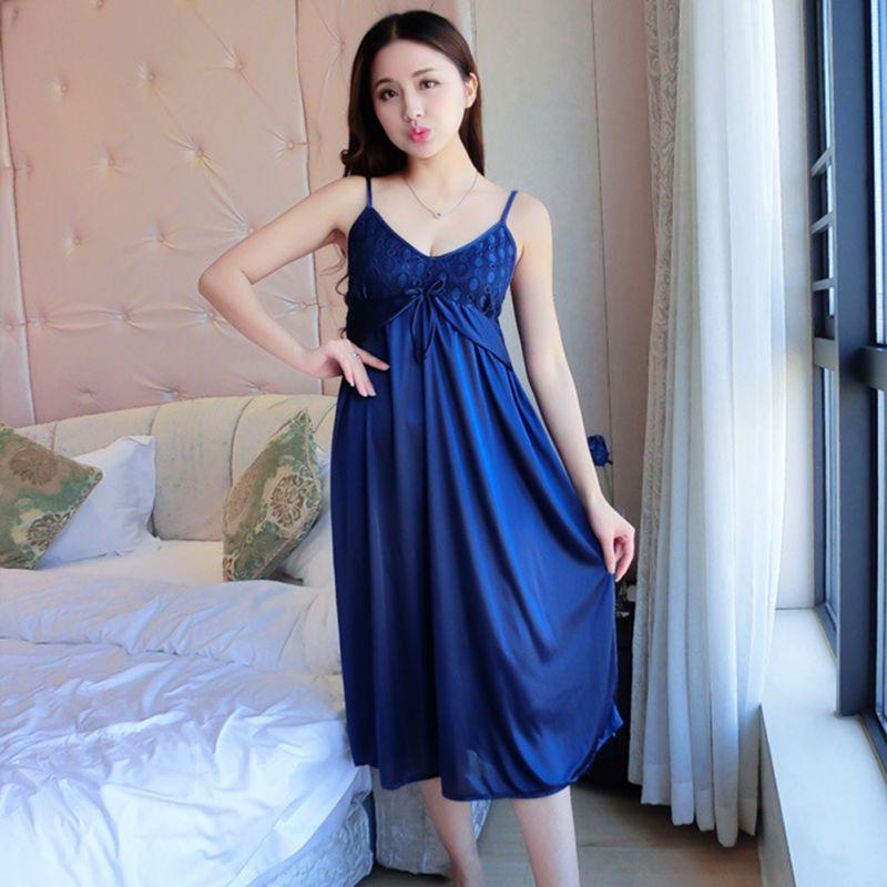 Women 2019 Summer Women Lace Pajama Sets Imitated Silk Pajamas Sets Sexy Women Sleeping Suits