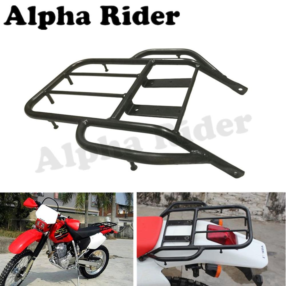 Motorcycle Detachable Rear Fender Luggage Rack Support Holder Saddlebag Cargo Shelf Bracket Kit for Honda XR 250 400 XR250 XR400 partol black car roof rack cross bars roof luggage carrier cargo boxes bike rack 45kg 100lbs for honda pilot 2013 2014 2015
