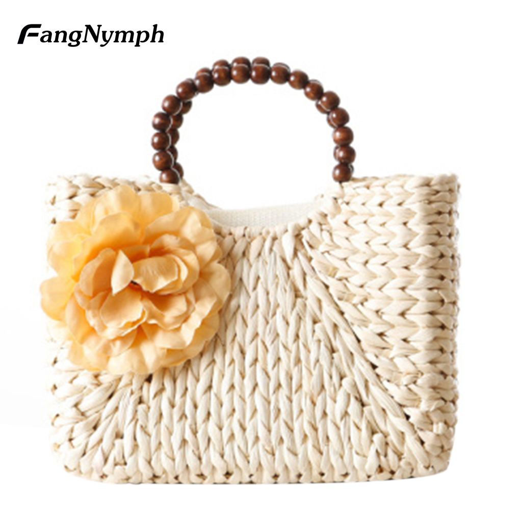 White Straw Handbags Promotion-Shop for Promotional White Straw ...