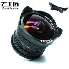 7 ремесленников 7,5 мм f2.8 рыбий глаз 180 APS-C руководство фиксированной объектив для E крепление Canon EOS-M Фудзи FX крепление лидер продаж, Бесплатная доставка