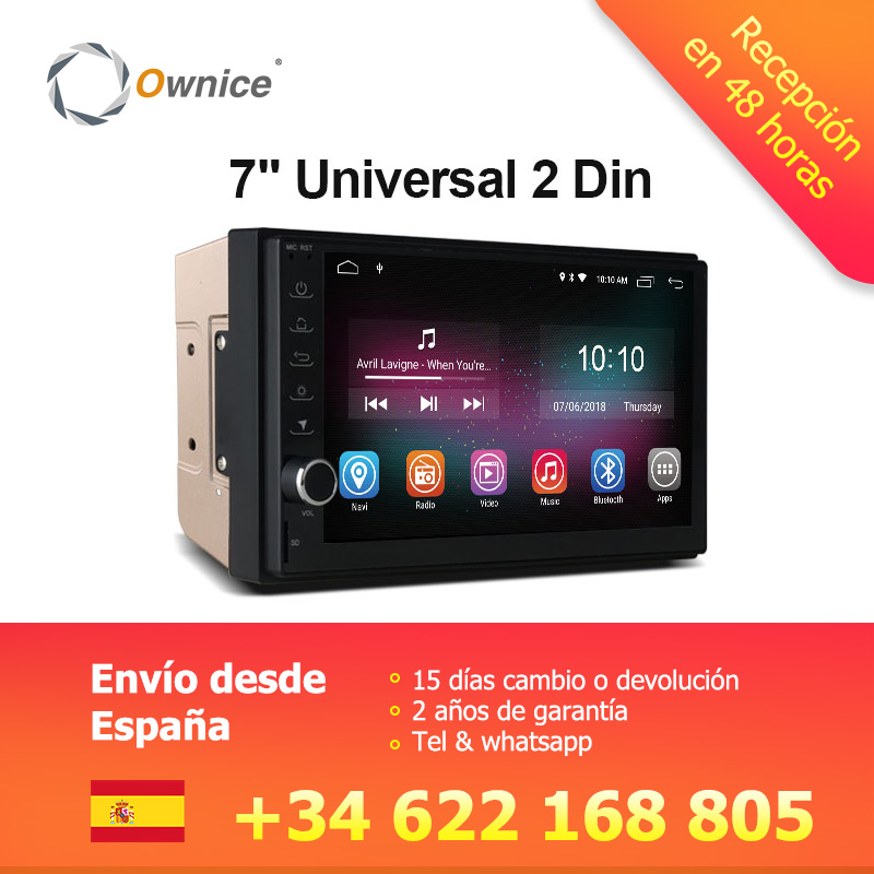 Ownice K1 Android 8.1 GPS Navigation 2G RAM DVD 2 Din Voiture Radio BT USB Universel Pour Nissan Toyota VW Peugeot Lecteur Soutien 4G
