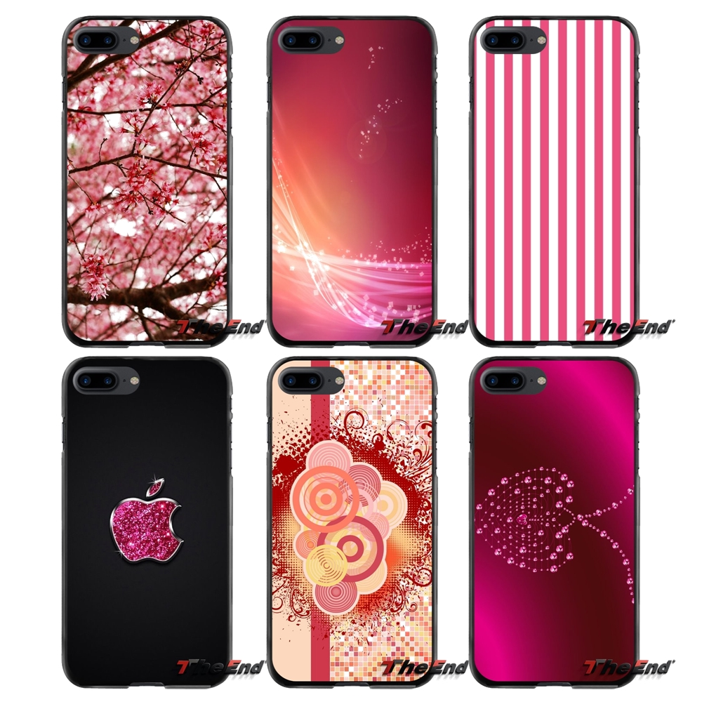 Accessories Phone Shell Covers For Apple iPhone 4 4S 5 5S 5C SE 6 6S 7 8 Plus X iPod Touch 4 5 6 Pinkish