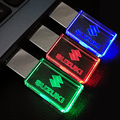 Glass Crystal USB Flash Drives with SUZUKI cars Logo 4GB 8GB 16GB 32GB 64GB USB 2.0 Flash Disk Stick Pen Drive with LED Light