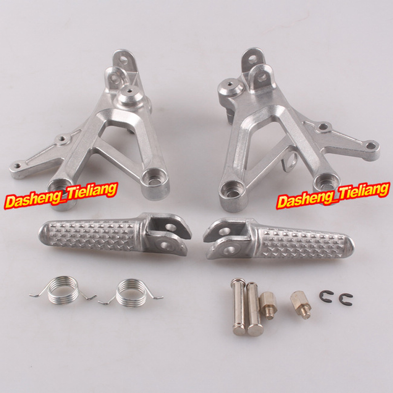 Aluminum Alloy Front Rider Foot Pegs Footrest Brackets For Honda CBR600 F4 99-00 F4i 01-06, Motorcycle Spare Parts Accessory