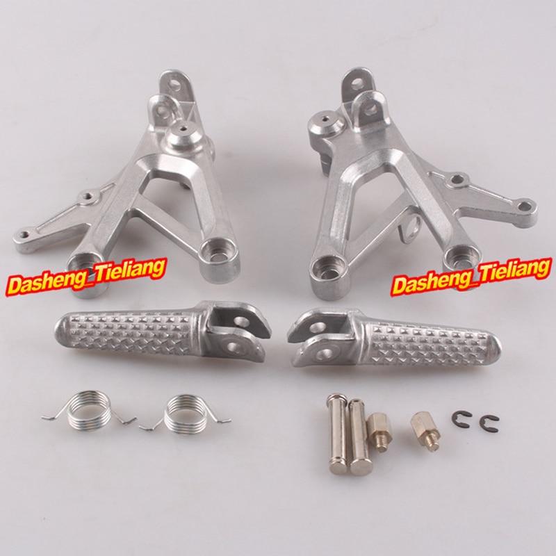 En Alliage d'aluminium Avant Rider Repose-pieds Repose-pieds Supports pour Honda CBR600 F4 99-00 F4i 01-06, moto Pièces De Rechange Accessoire