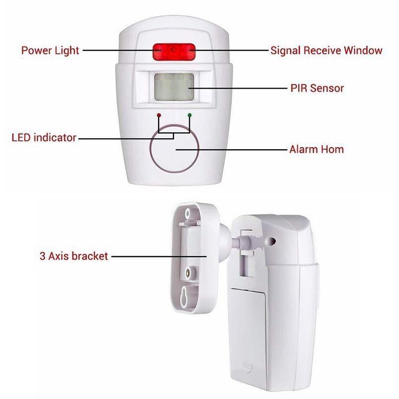 Hjemmesystem IR Infrarød Bevægelsessensor Alarm Sikkerhedsdetektor - Sikkerhed og beskyttelse - Foto 6