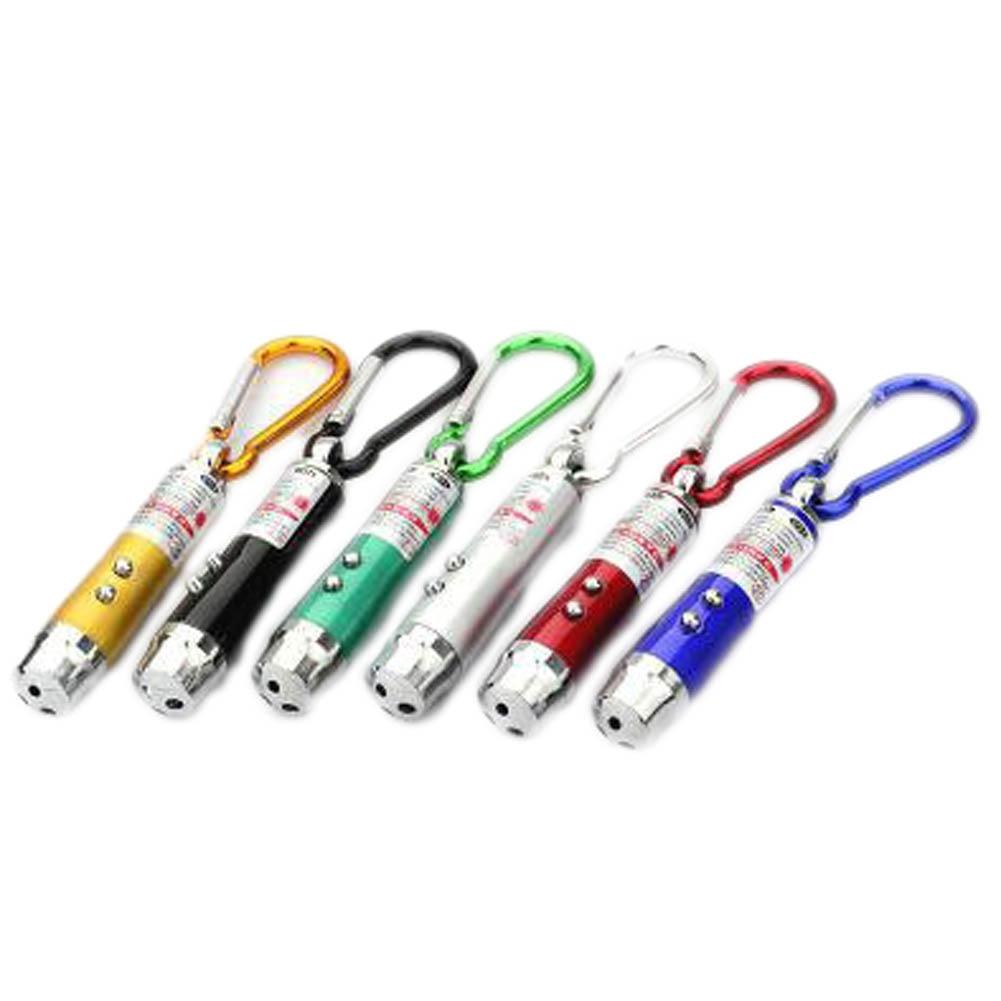 Laser Pen Pointer Key Chain Flash Light LED 2 In 1 Green Keychain Charm