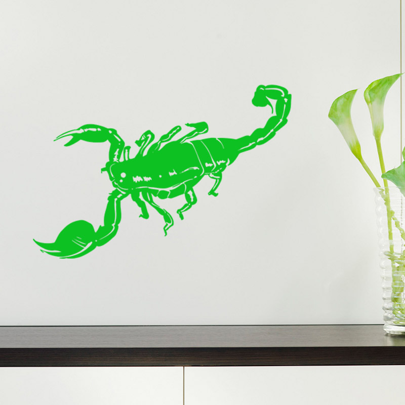 Scorpion Decert Predator Aggressive Decor Wall Stickers Vinyl Decal