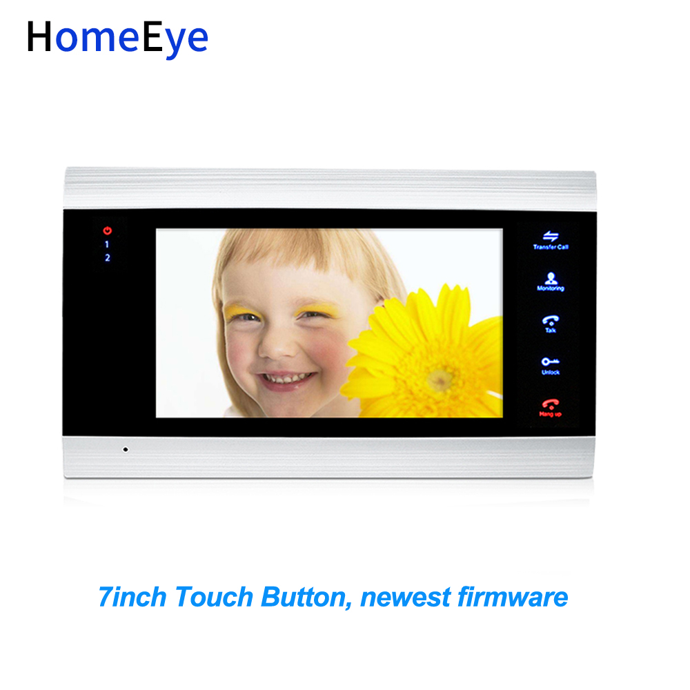 HomeEye 7 Inch Indoor Monitor Display Screen For Video Door Phone Video Intercom/Home Access Control System 4-Wired Wholesale