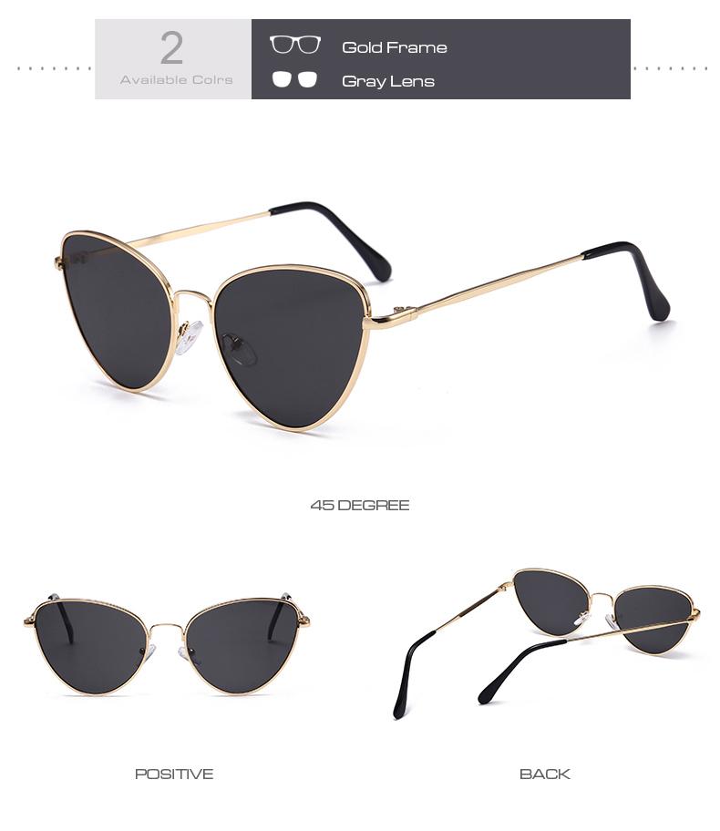 Gafas de sol de ojo de gato Vintage pequeñas y sexis para mujer 6