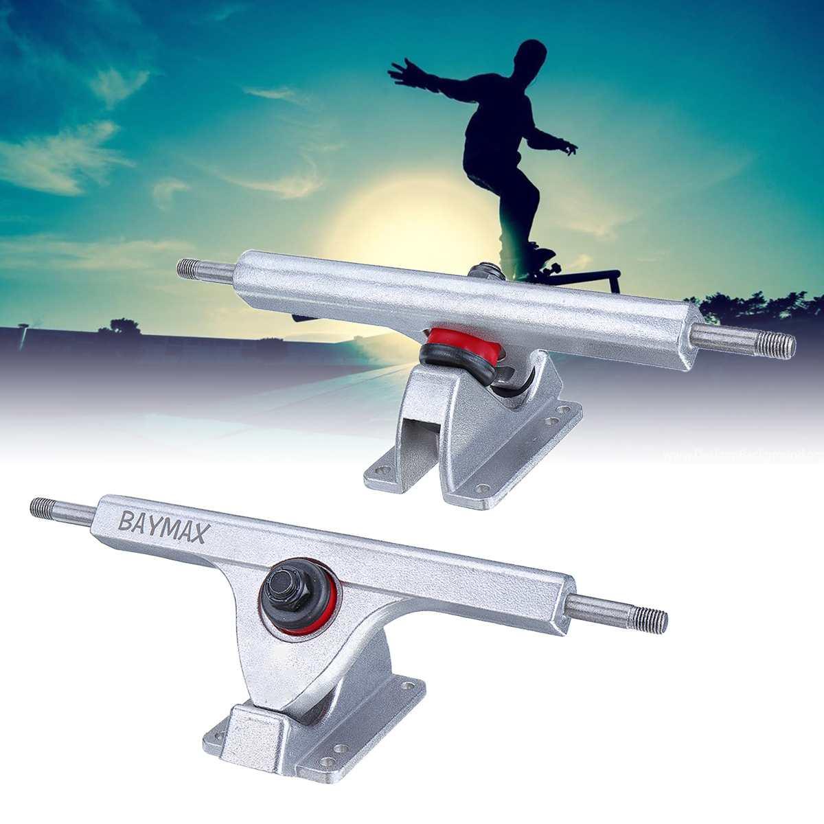 1 paire 250mm 10 ''44 argent Double Rocker Profession Longboard camions Aluminium électrique Skateboard cintre pièces planche à roulettes