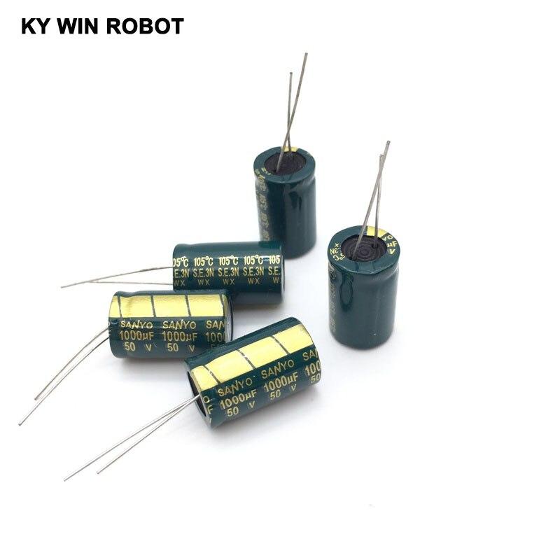aluminum electrolytic 10 pcs  Aluminum electrolytic capacitor 1000 uF 50 V 13 * 20 mm frekuensi tinggi Radial Electrolytic kapasitor (5)