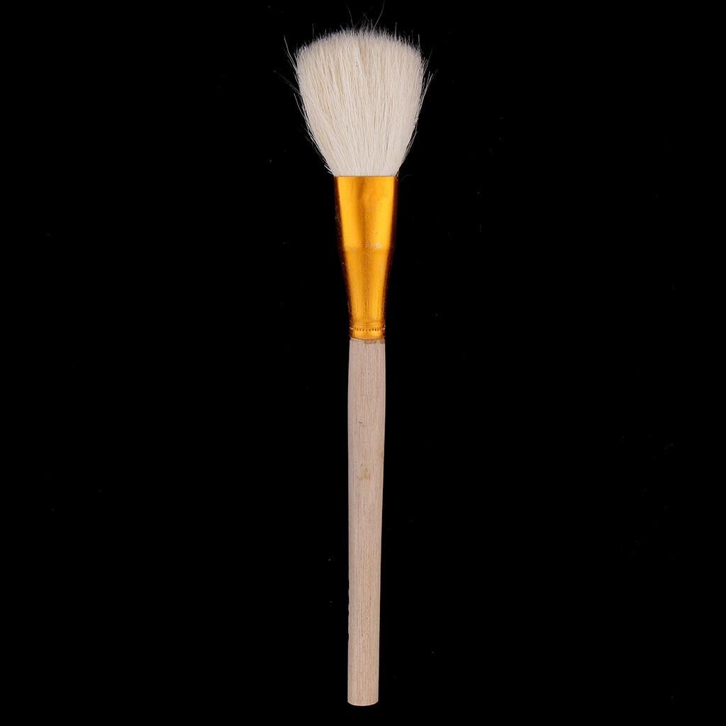 Большая голова глиняные чистящие кисти с деревянными ручками формочки, художники краски кисти, гончарная глина скульптура инструменты для резьбы, чистка, рисунок - Цвет: 22cm 1