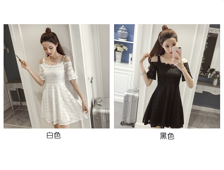 18 New fashion women summer lace sexy dress white Korean style clothes for womens vestido de festa mini white clothings 4